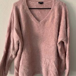 Blush Pink Fuzzy Yarn Tunic